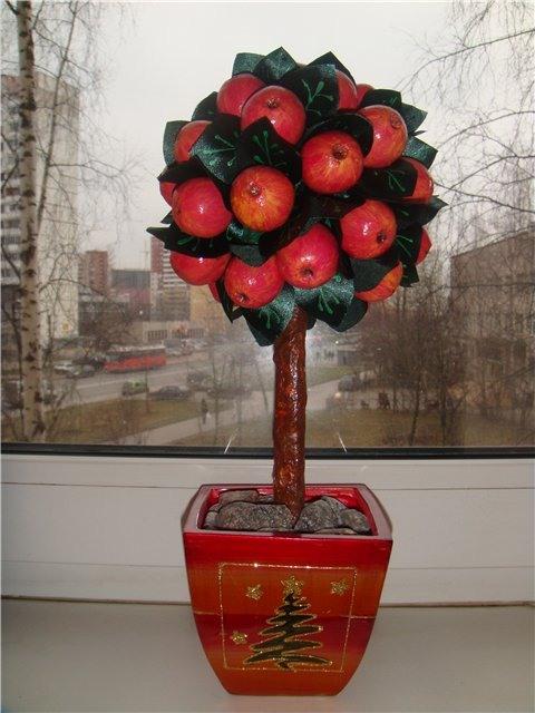 Как сделать дерево с яблоками 833