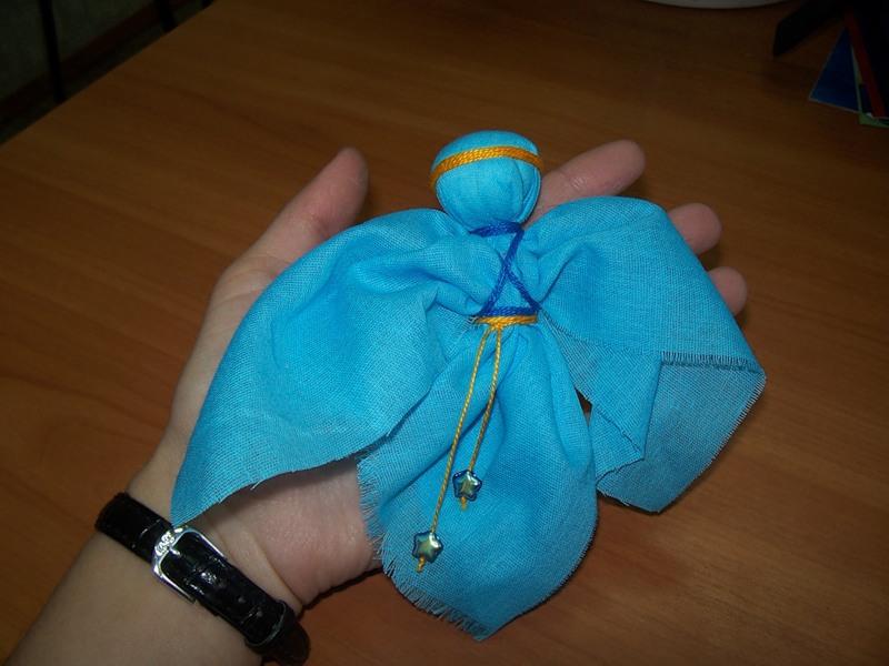 Ангелочки своими руками из ткани мастер класс